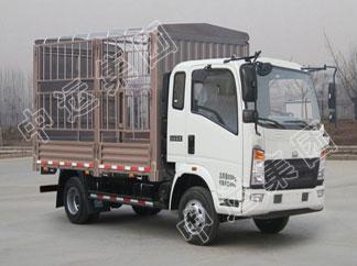 HOWO轻卡仓栅式蔬菜货物运输车