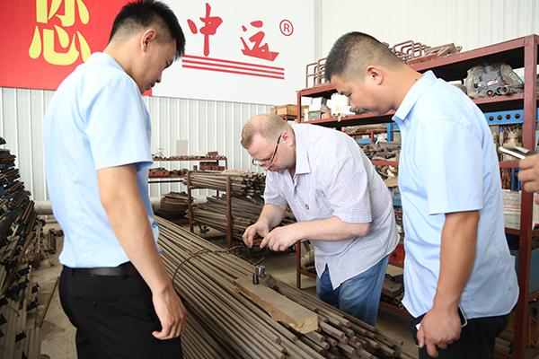 热烈欢迎俄罗斯客商莅临集团考察采购设备