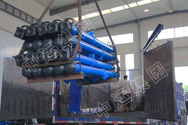 集团一批矿用单体液压支柱发往陕西延安