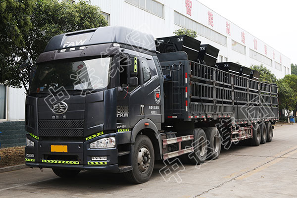 集团一批侧卸式矿车发往重庆