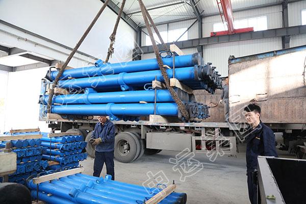 集团一批矿用单体液压支柱设备发往山西怀仁