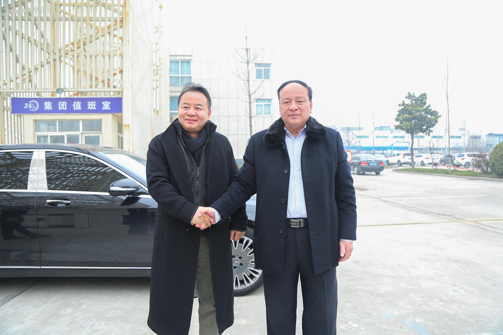 热烈欢迎英国中华总商会邵主席莅临集团参观考察