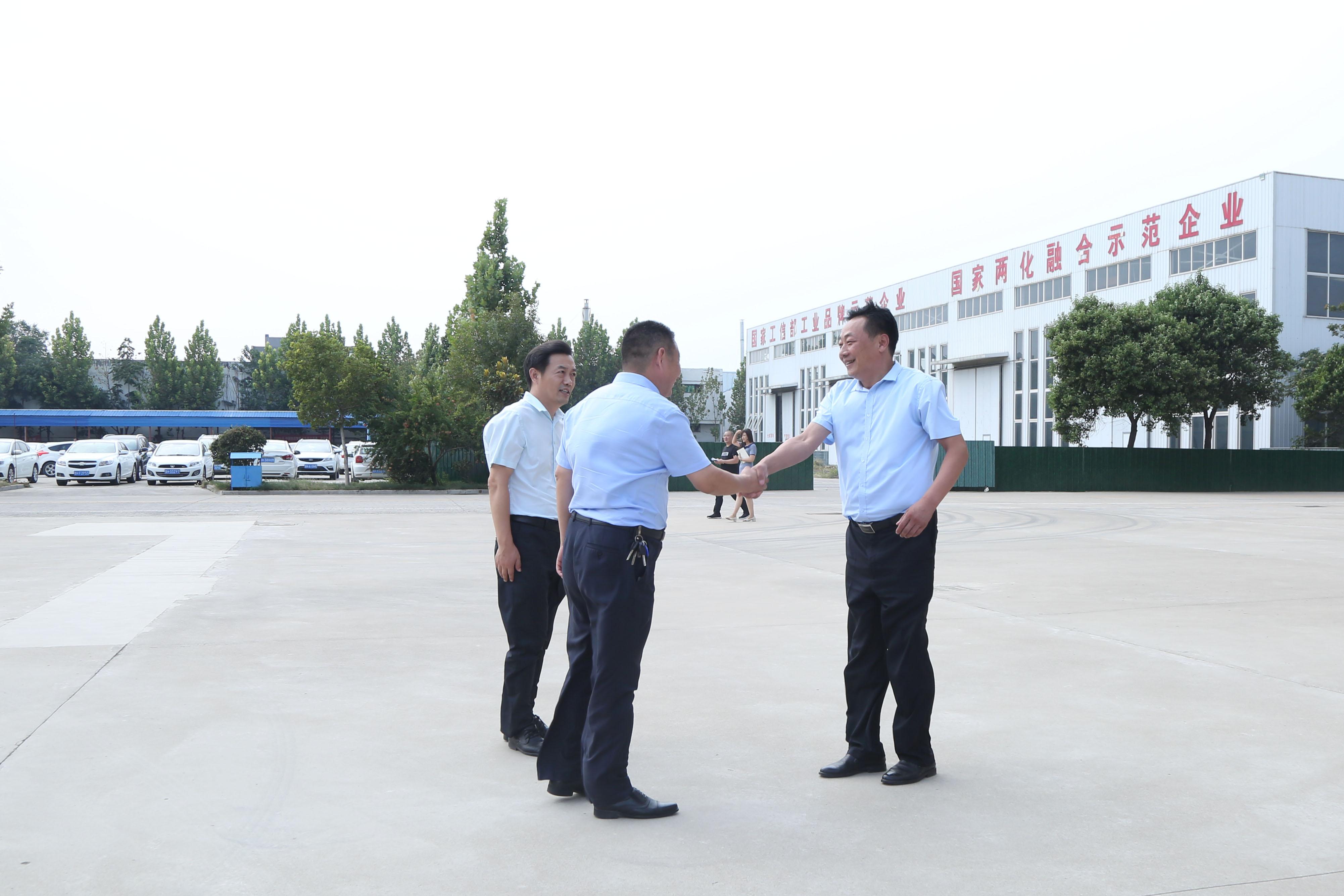 热烈欢迎济宁高新区领导一行莅临集团参观指导